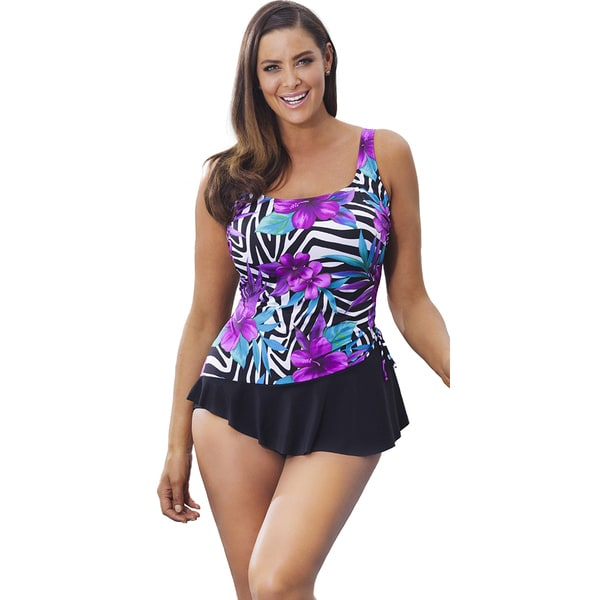 d1147dddae Shop Longitude Women's Nairobi Sarong Swimsuit - Free Shipping On Orders  Over $45 - Overstock - 11045651