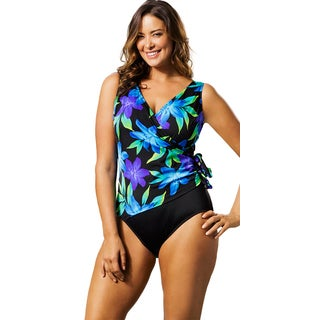 Longitude Women's Flamenco Side Tie Surplice Swimsuit