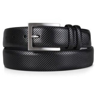 Vance Co. Men's Textured Genuine Leather Dress Belt