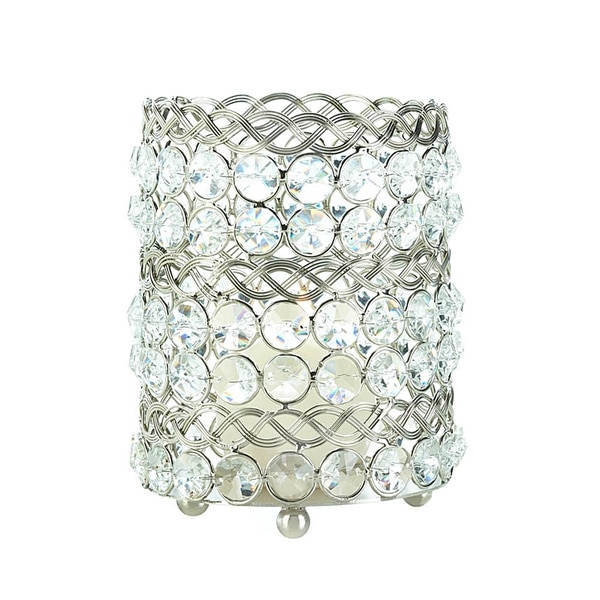 Large Beaded Crystal Candle Cup