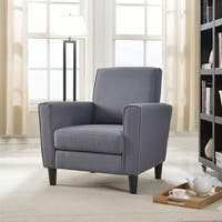 Contemporary Solid-colored Fabric Accent Chair