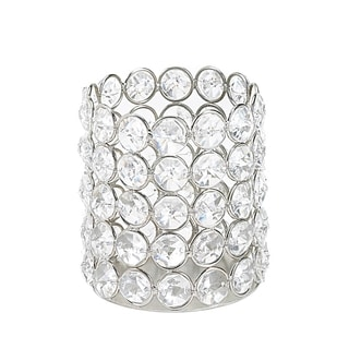 Sparkling Crystal Round Candle Holder