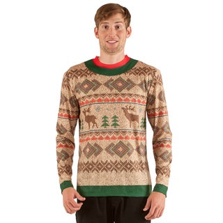 Faux Real Traditional Reindeer Sweater T-Shirt