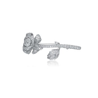 Collette Z Sterling Silver Cubic Zirconia Rose Pin