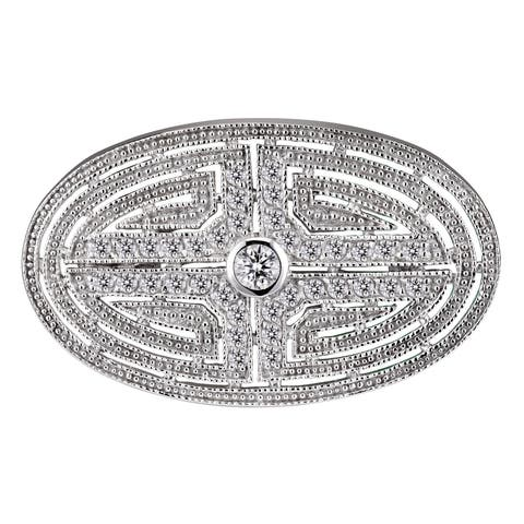 Collette Z Sterling Silver Cubic Zirconia Labryinth Pin