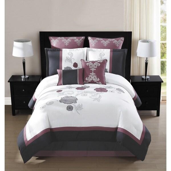 Maliah 8 Piece Embroidered 8-piece Comforter Set