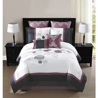 Maliah 8 Piece Embroidered 8-piece Comforter Set