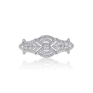 Collette Z Sterling Silver Cubic Zirconia Elegance Pin