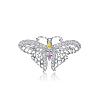 Collette Z Sterling Silver Cubic Zirconia Winged Pin