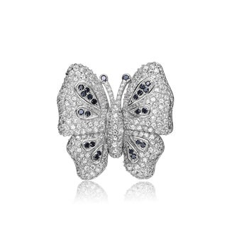 Collette Z Sterling Silver Cubic Zirconia Butterfly Pin