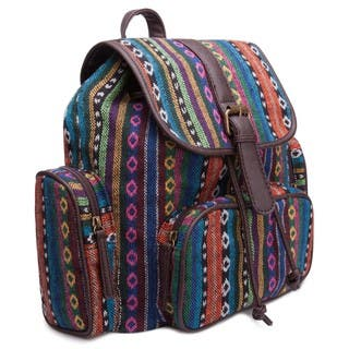 Ann Creek Women's 'Hetis' Multi-stripe Backpack|https://ak1.ostkcdn.com/images/products/11045813/P18058620.jpg?impolicy=medium