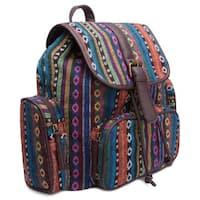 Ann Creek Women's 'Hetis' Multi-stripe Backpack