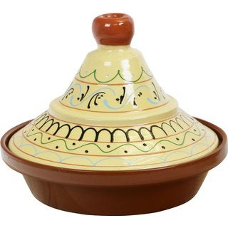 Reston Lloyd Eurita Yellow 2-Quart Seville Pattern Terra Cotta Tagine
