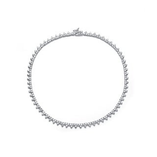 Collette Z Sterling Silver Clear Cubic Zirconia Necklace