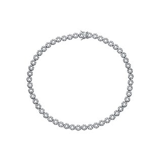 Collette Z Sterling Silver Clear Cubic Zirconia Open Circle Necklace