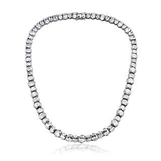 Collette Z Sterling Silver Clear Cubic Zirconia Mini Solitaire Necklace