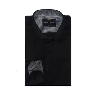 Azaro Uomo Men's Ray Black Button Down