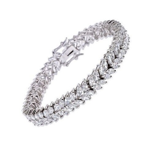 Collette Z Sterling Silver Cubic Zirconia Tennis Bracelet - White