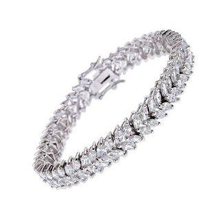 Collette Z Sterling Silver Cubic Zirconia Tennis Bracelet - White