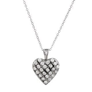 Collette Z Sterling Silver Cubic Zirconia Sparkle Heart