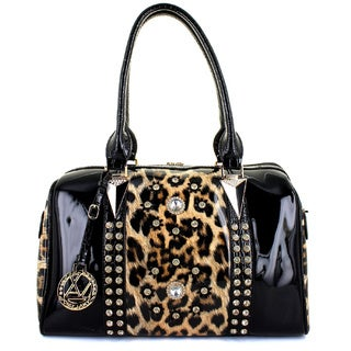 LANY Daysi Leopard Glam Boston Bag