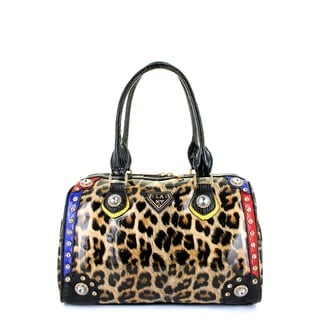 LANY Leopard Glam Boston Bag
