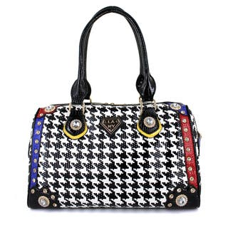 LANY Houndstooth Luxe Boston Bag https://ak1.ostkcdn.com/images/products/11045880/P18058502.jpg?impolicy=medium