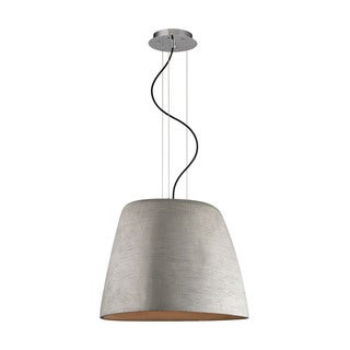 Alico Triangle 1-light Pendant in Concrete and Chrome