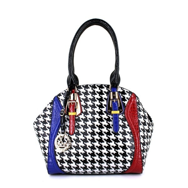 LANY Houndstooth Luxe Satchel