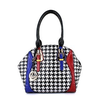 LANY Houndstooth Luxe Satchel https://ak1.ostkcdn.com/images/products/11045893/P18058505.jpg?impolicy=medium