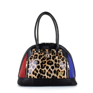 LANY Leopard Glam Bowler Bag