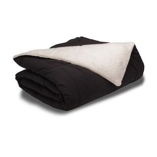 eLuxurySupply Sherpa Down Alternative 3-piece Comforter Set