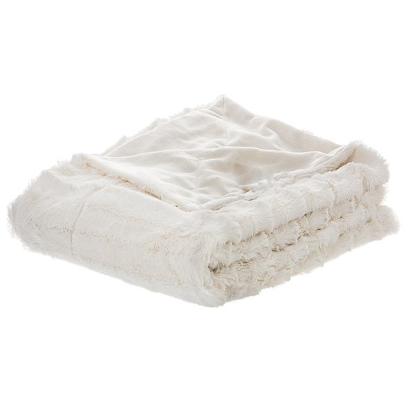 Cheer Collection Faux Fur to Microplush Reversible Throw Blanket. Opens flyout.
