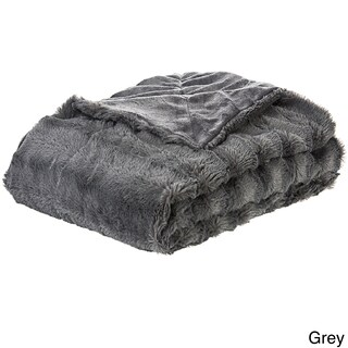Cheer Collection Faux Fur to Microplush Reversible Throw Blanket (3 options available)