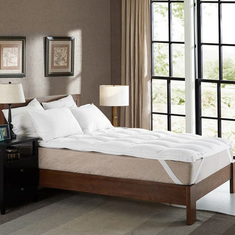 Cheer Collection Luxury Down Alternative Mattress Topper - White