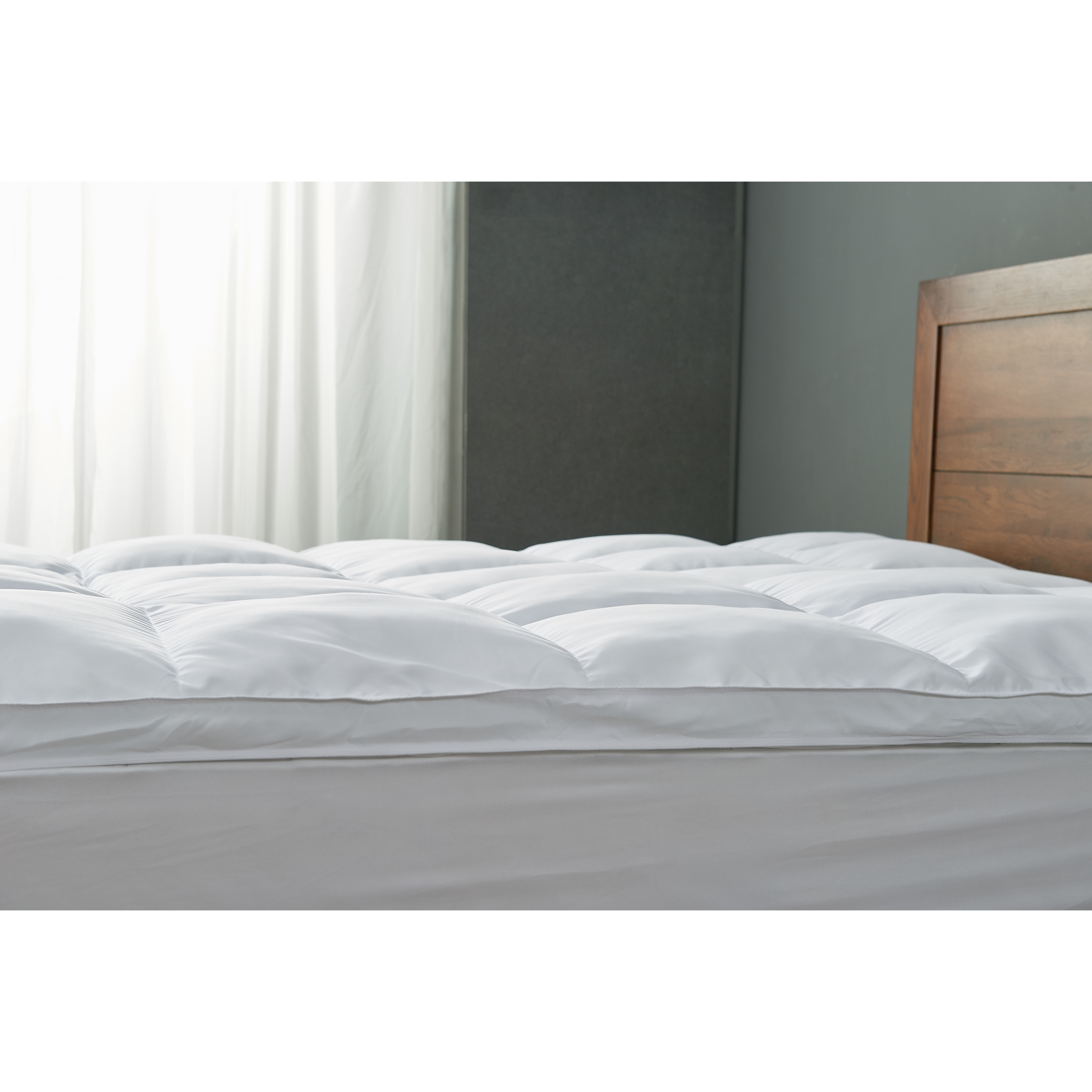 Cheer Collection Luxury Down Alternative Mattress Topper White On Sale Overstock 11045940