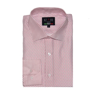 Azaro Uomo Men's Dot Red Button Down