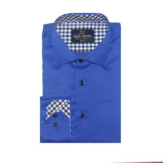 Azaro Uomo Men's Fred Blue Button Down