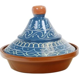 Reston Lloyd Eurita Palma Pattern 2-Quart Blue Terra Cotta Tagine