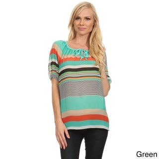 MOA Collection Women's Striped Relaxed Top