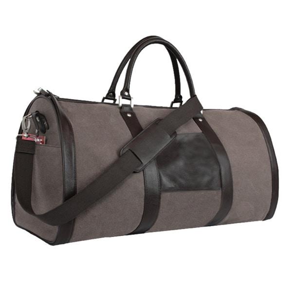 Goodhope 2 In 1 Duffel Bellino Leather Garment Travel Hanging Bag