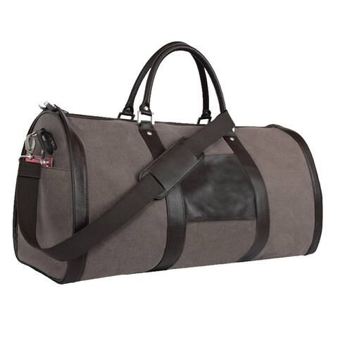 Goodhope 2-in-1 Duffel Bellino Leather Garment Travel Hanging Bag