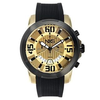 NXS Geiger Swiss Chronograph Men's Watch 22 mm Silicone Strap