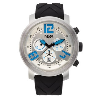 NXS Hoffman Swiss Chronograph Men's Watch Mulit-Layered Dial and Silicone Strap