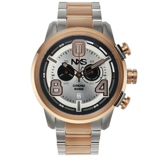 NXS Pastrana Swiss Chronograph Men's Watch 22 mm Stainless Steel Bracelet