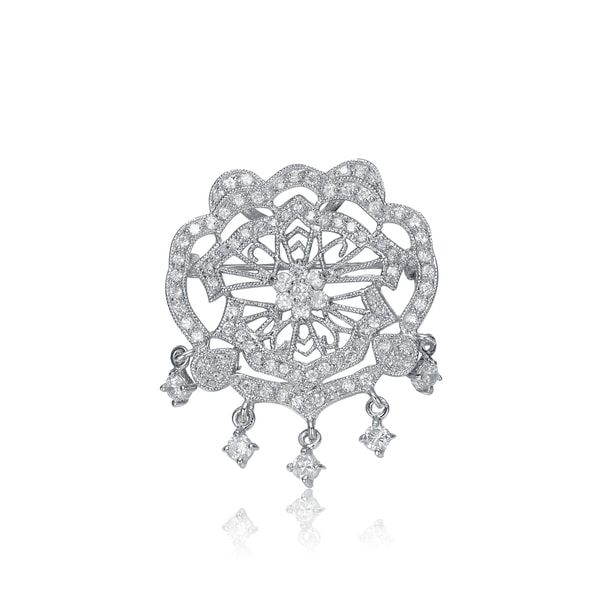 Collette Z Sterling Silver Cubic Zirconia Chandelier Pin