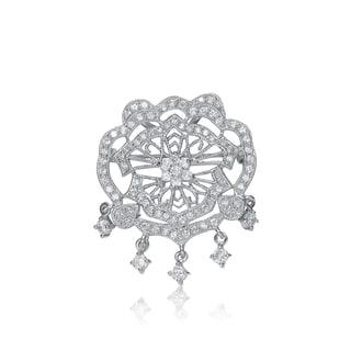 Collette Z Sterling Silver Cubic Zirconia Chandelier Pin