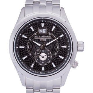Paul Perret Musset Swiss Quartz Men's Watch Multi-Textured Dial Stainless Steel Bracelet