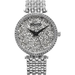 SO&CO New York SoHo Women's Quartz Stainless Steel Crystal Bracelet Mothers Day Gift Watch|https://ak1.ostkcdn.com/images/products/11046263/P18058869.jpg?impolicy=medium