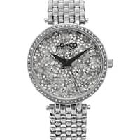 SO&CO New York SoHo Women's Quartz Stainless Steel Crystal Bracelet Mothers Day Gift Watch